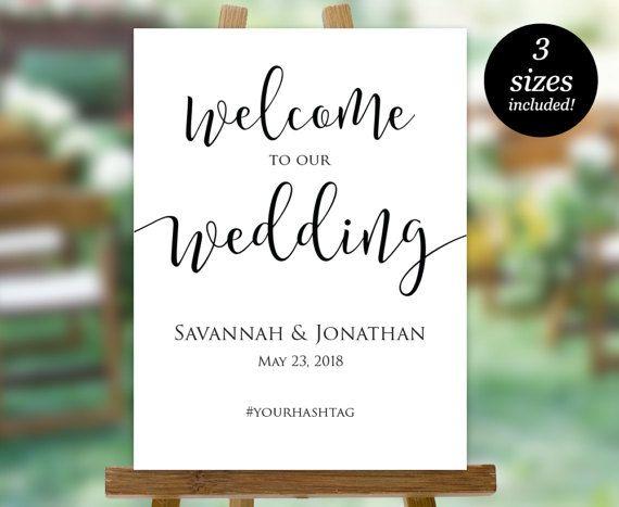 Wedding Welcome Sign Printable Welcome Wedding Sign