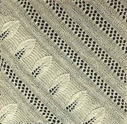 Leaf Beadspread pattern   My Vintage Knitting Machine   Pinterest ...