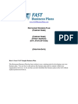 Restaurant Business Plan With Images Restaurant Business Plan Business Planning How To Plan