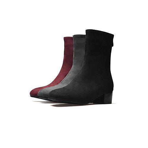 Damskie Obuwie Nubuk Derma Zima Jesien Modne Obuwie Kozaki Na Obcasie Buciki Gruby Obcas Buty Zamkniete Kozaczki Kozaki Do Kostki Zamek 2021 Us 37 44 Short Suede Boots Boots Short Boots