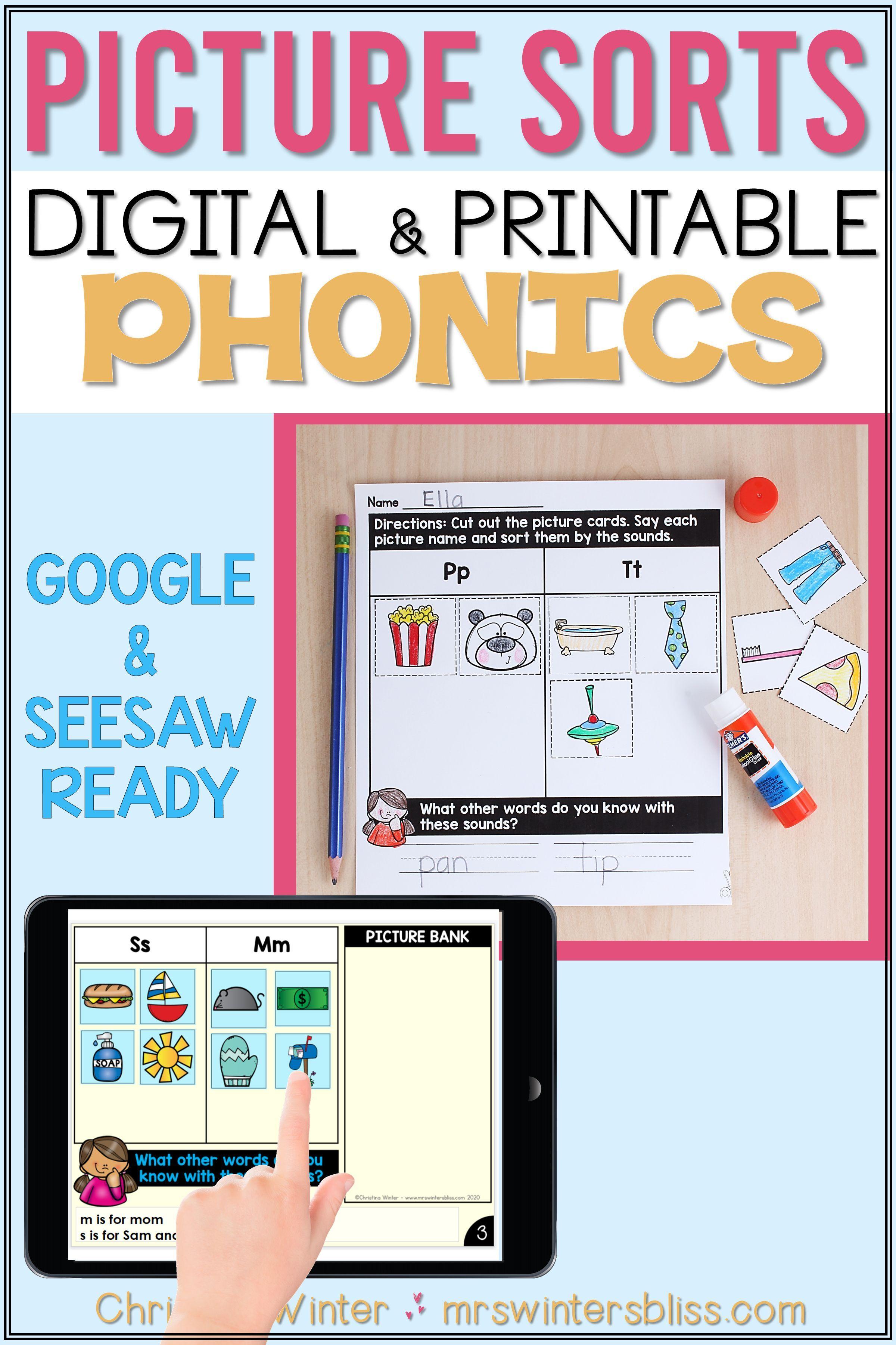 Beginning Sounds Alphabet Sort Google Slides Seesaw Worksheets Phonics Instruction Teaching Printables Alphabet Sort [ 3600 x 2400 Pixel ]