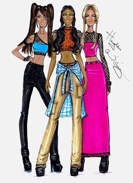#Hayden Williams Fashion illustrations #TLC by Hayden Williams