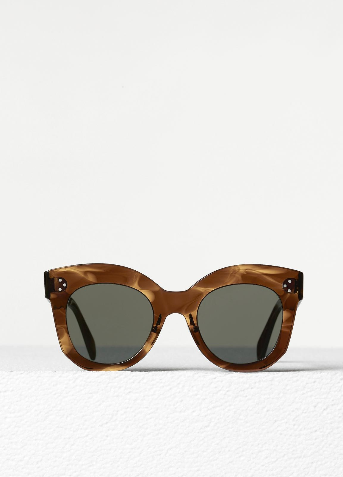 b2f2dc6f7721 Chris Sunglasses in Brown Havana Acetate with Grey Lenses Four Eyes