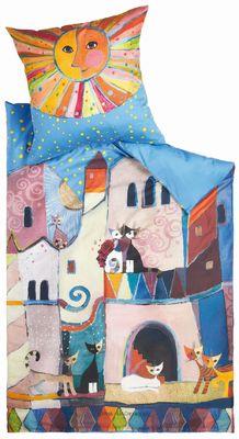 Housse de couette chat little town de rosina wachtmeister