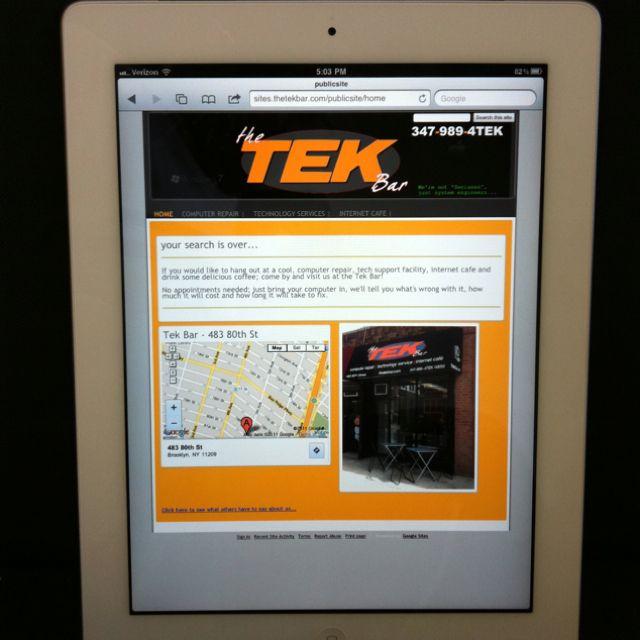 Beta site on an iPad!