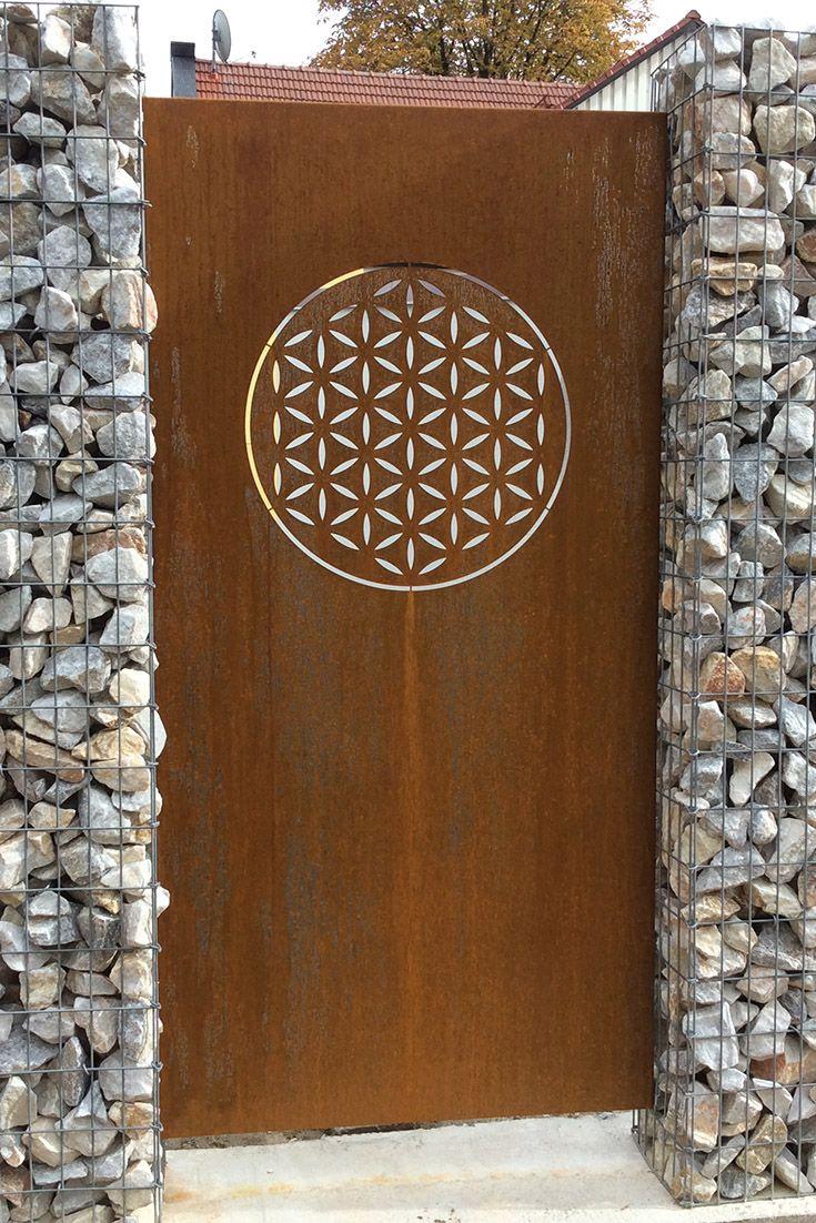 Paras Sichtschutzwand Cortenstahl Motiv Blume Des Lebens