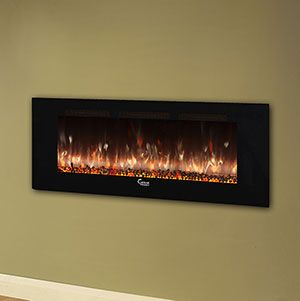 Caesar Fireplace 60 In Wall Mount Electric Fireplace W Back