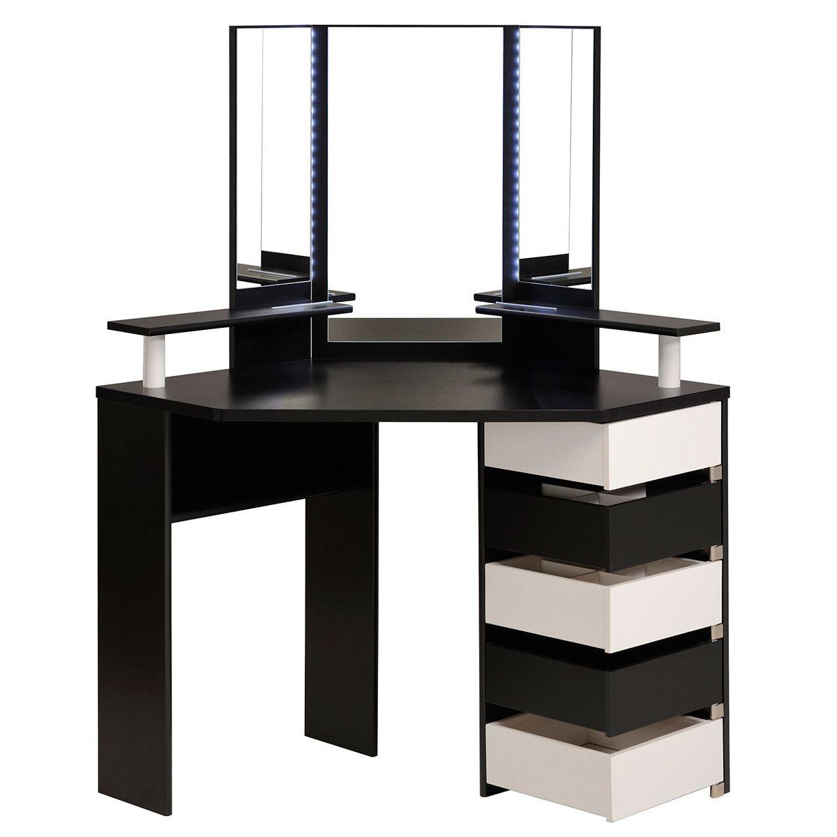 Mirror nightstands contemporary bedroom kimberley seldon design - 15 Elegant Corner Dressing Table Design Ideas For Small Bedrooms