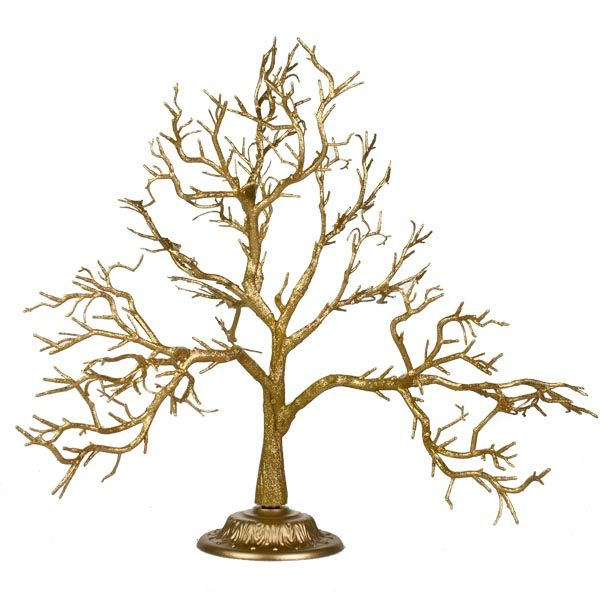 Twig Decorations glittered gold branch twig tree - 55cm - decorations for wedding