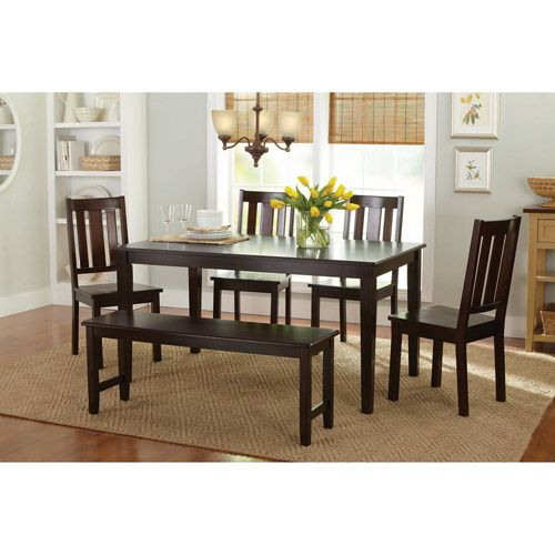Better Homes And Gardens 6 Piece Dining Set Mocha Furniture