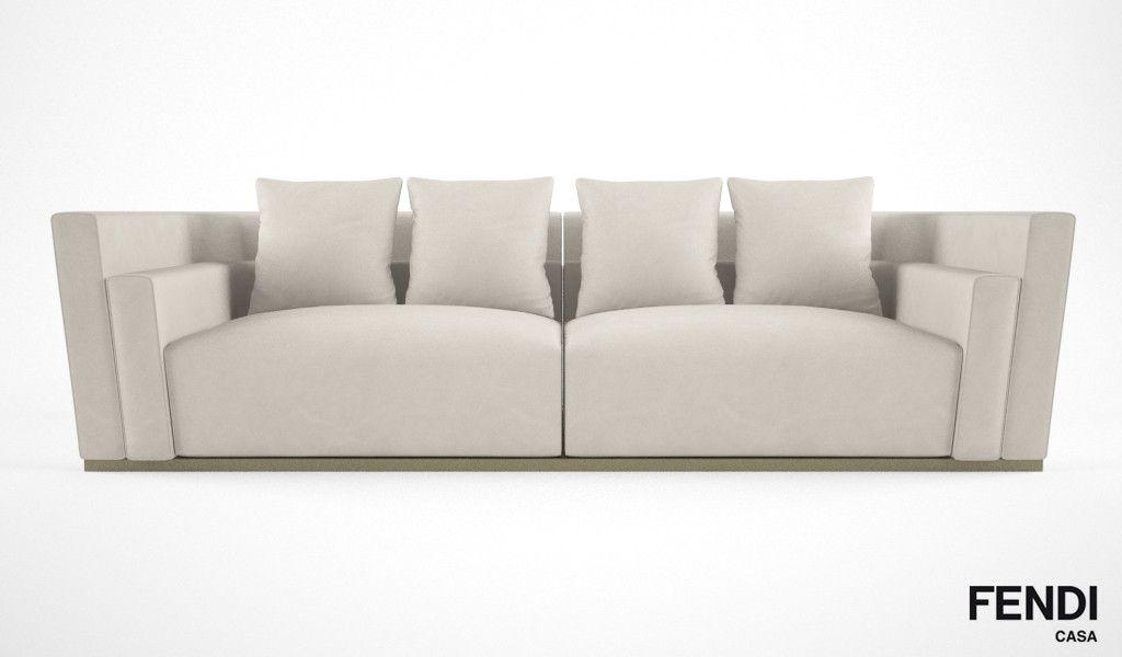 3d model fendi casa borromini sofa | brand - fendi casa ... - Fendi Sofa