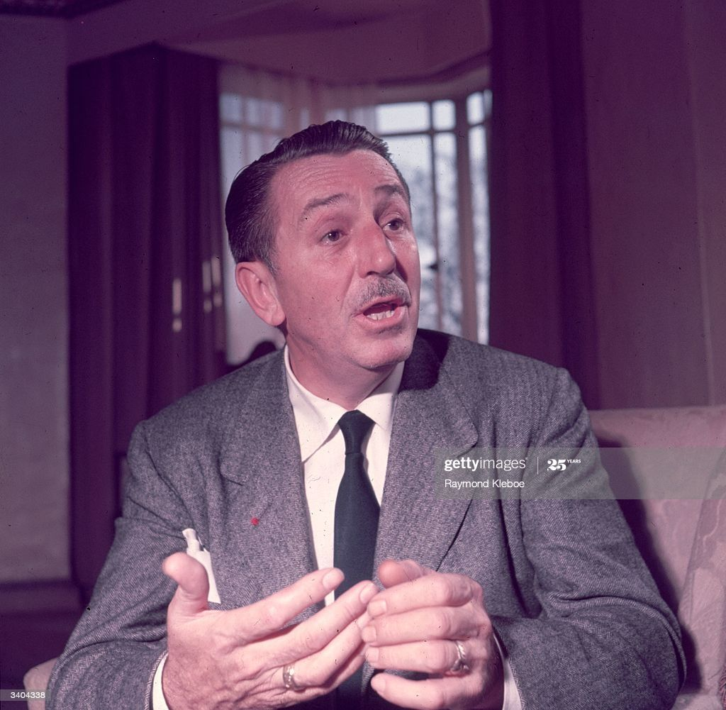American animator and film producer Walt Disney . Original...