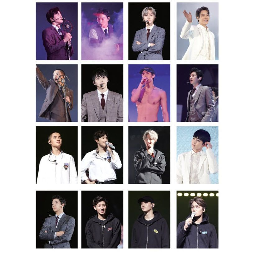 Exo official postcard the elyxion dot concert goods md
