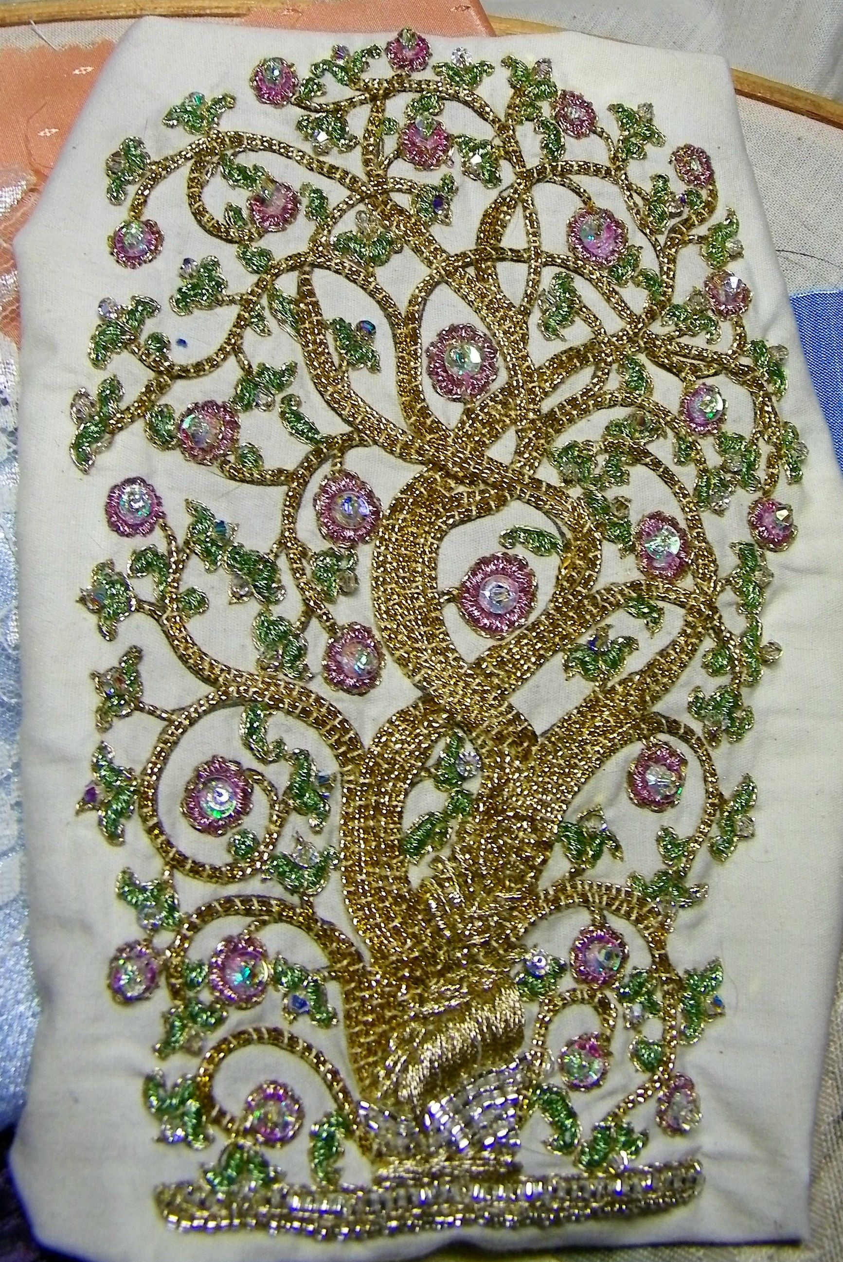 Tree of life Bead embroidery - Quilters Club of America | Crazy ... : quilt club of america - Adamdwight.com