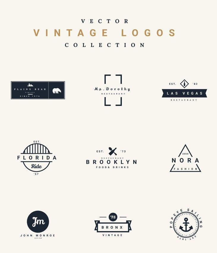 Free Vector Vintage Logos By Graphberry Vintage Logo Design Vintage Logo Vintage Graphic Design
