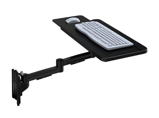 Wall Mount Track Keyboard Tray With Sliding Mouse Tray Afcindustries Wall Mount Keyboard Mounting