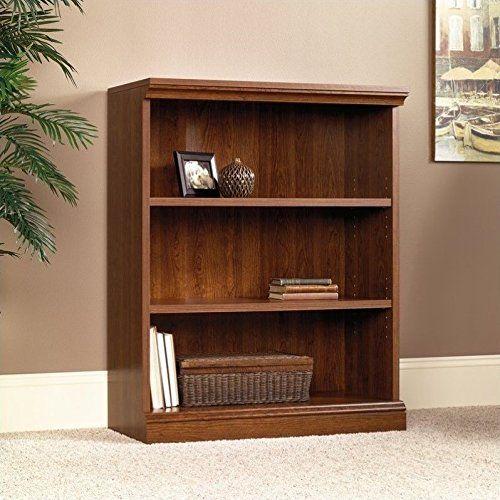 Sauder Camden County 3 Shelf Bookcase Planked Cherry Finish
