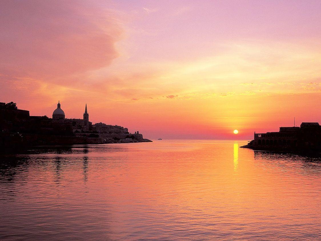 Valletta Malta Sunset