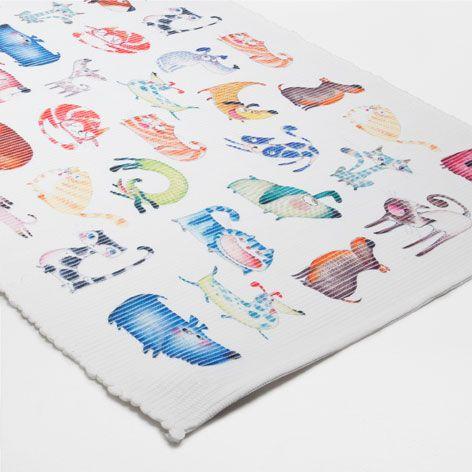 Zara Home Teppich teppich mit hunden und katzen teppiche vorhänge schlafen