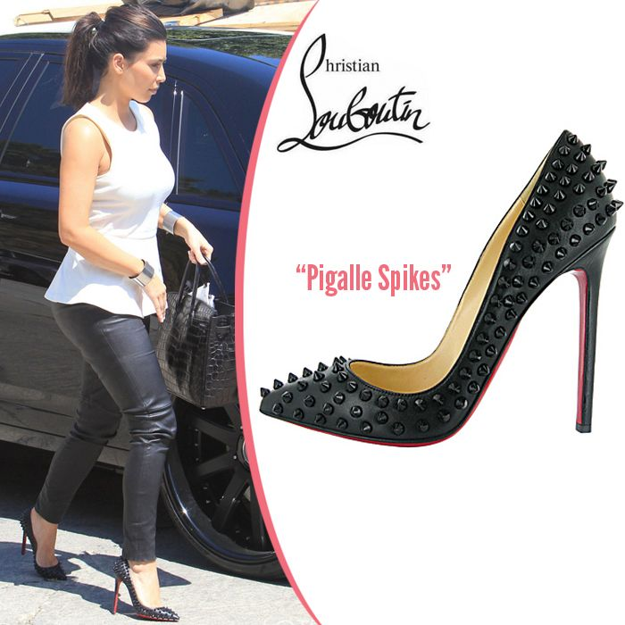 louboutin pigalle black spike pump