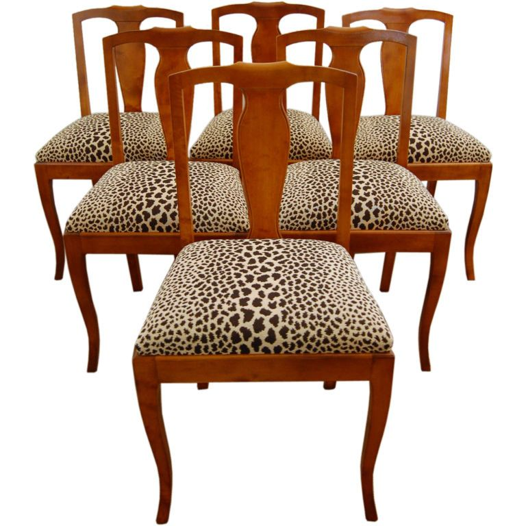 How To Upholster A Dining Room Chair Pleasing Set Of Six Swedish Flame Birch Dining Side Chairs  Room Side Decorating Inspiration