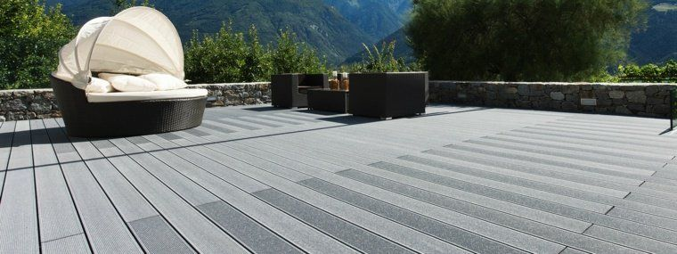 idée revêtement bois composite terrasse extérieur #Deckingideas