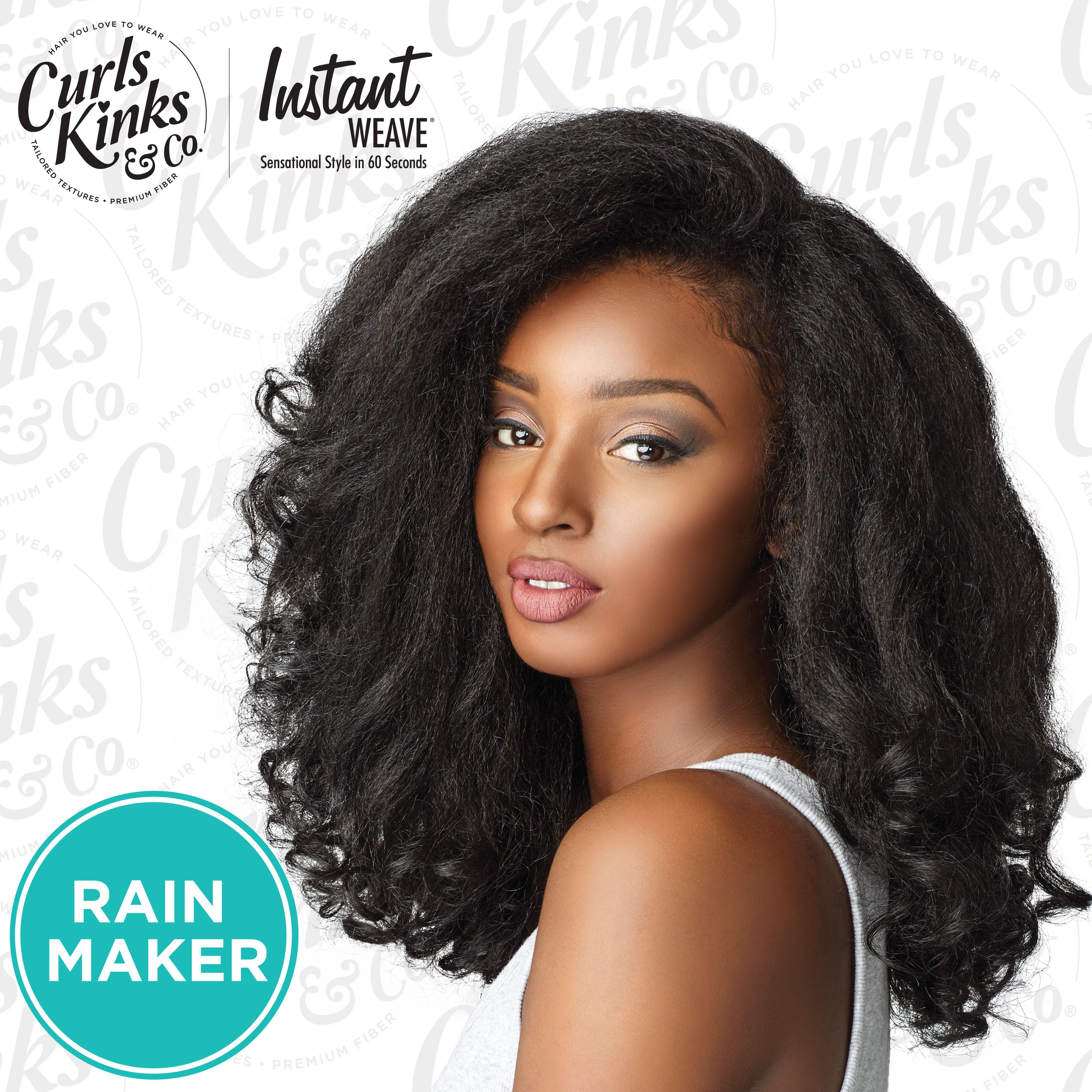 rain maker blow out natural hair 4c 4b 4a texture roller set