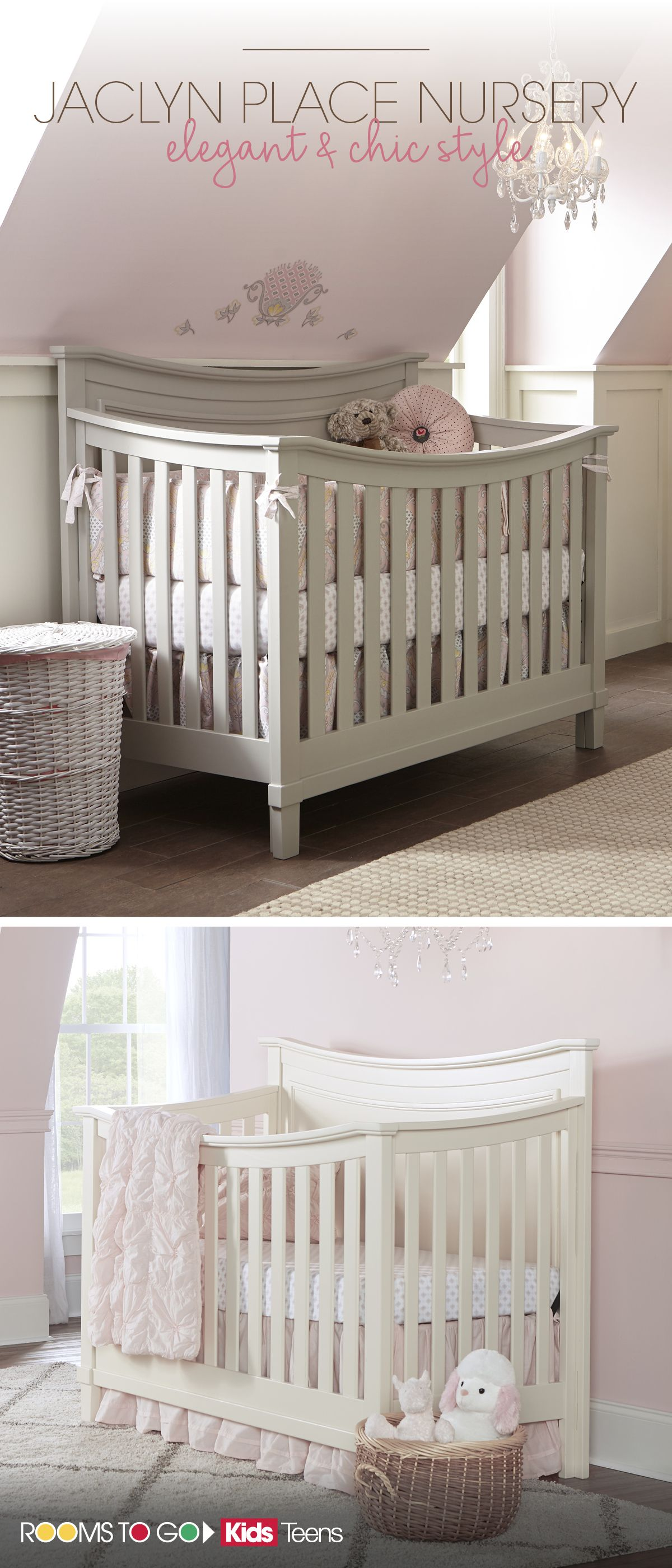 find a modern elegant and chic girls nursery for your baby at