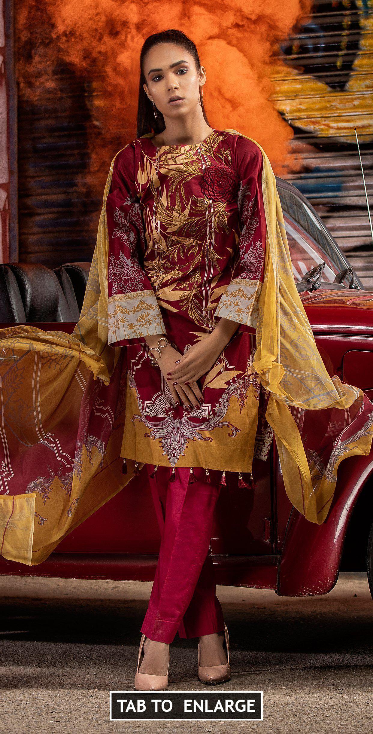1c6f327901 Silkoria Lawn Embroidered RC-145B 2019 #LawnEmbroidered #RC-145B2019  #Silkoria #