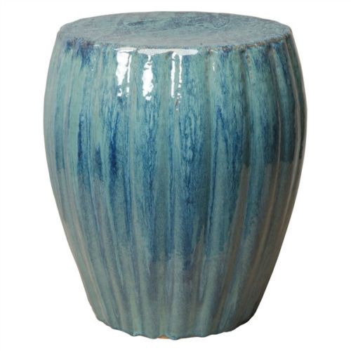 Excellent Turquoise Ceramic Garden Stool End Or Side Table Indoor Or Creativecarmelina Interior Chair Design Creativecarmelinacom