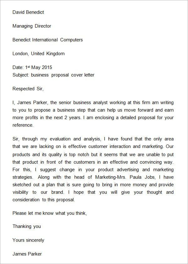 Free Templates For Letters Mesmerizing 32 Sample Business Proposal Letters Sample Templates #sampleresume .