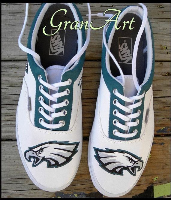 2bc13da34fc95 Philadelphia Eagles Custom Shoes, Custom Shoes, Vans Painted Shoes ...