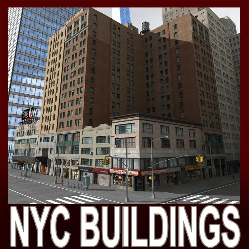 Nyc Buildings D 3d Model Ad Nyc Buildings Model 3d Model Building Architecture Rendering