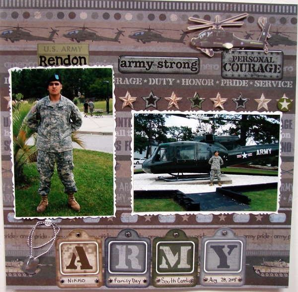 Military Scrapbook Ideas Family Scrapbook Page Ideas Die Cuts