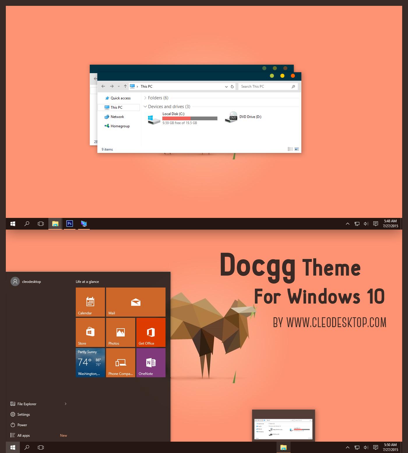 Docgg Theme For Windows 10 Rtm