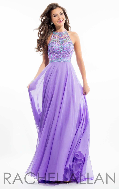Beaded Chiffon Gown by Rachel Allan | Vestido de gala y Vestiditos