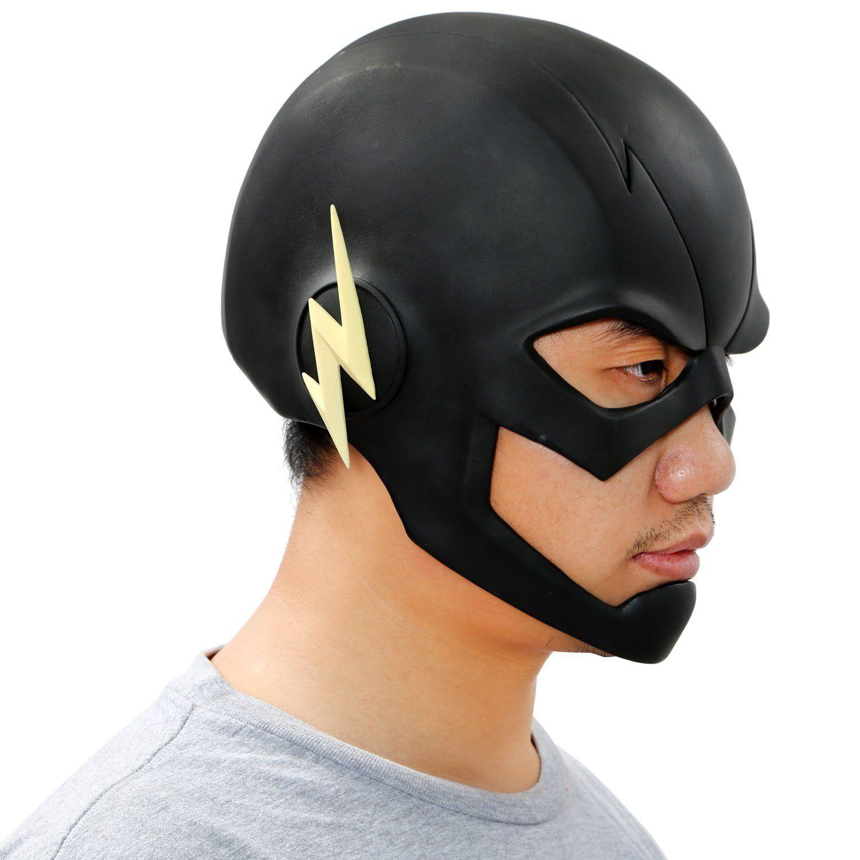Reverse Flash Mask Cosplay Streak PVC Helmet Adult The
