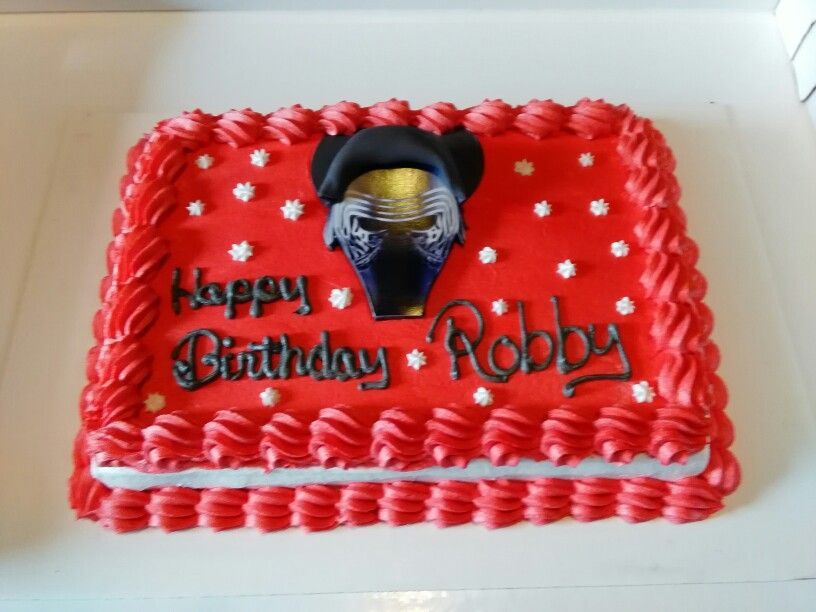 Happy Birthday Robby Red Velvet Cake Buttercream Icing Edible Sheet