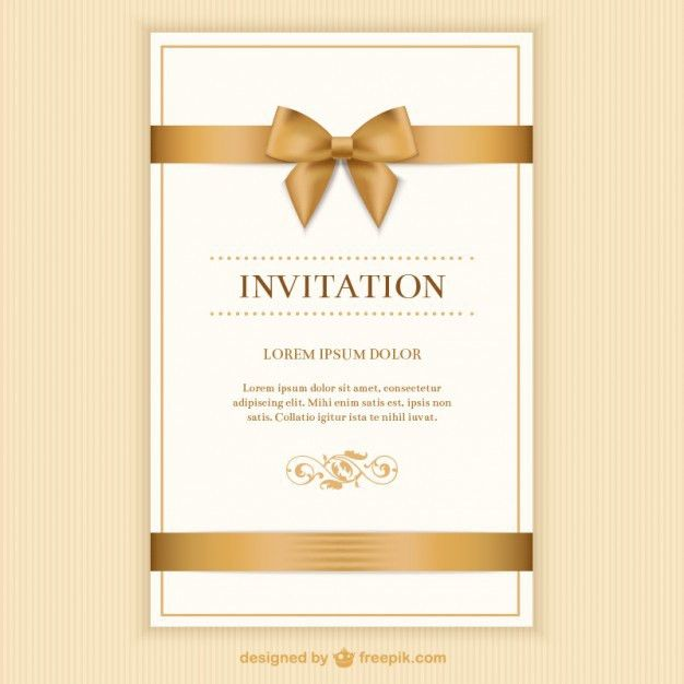 Invitation Vectors Photos And Psd Files Free Download Freepik Sampleresume Professiona Free Invitation Cards Wedding Invitation Vector Invitation Card Format