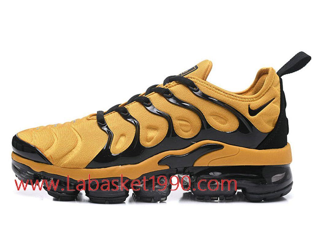 the best attitude be69d b5fe6 Nike Air VaporMax Plus AO4550-ID2 Chaussures Nike 2018 Pas Cher pour homme  Noir Jaune