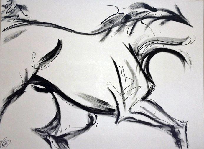 Horse Modern Art Painting
