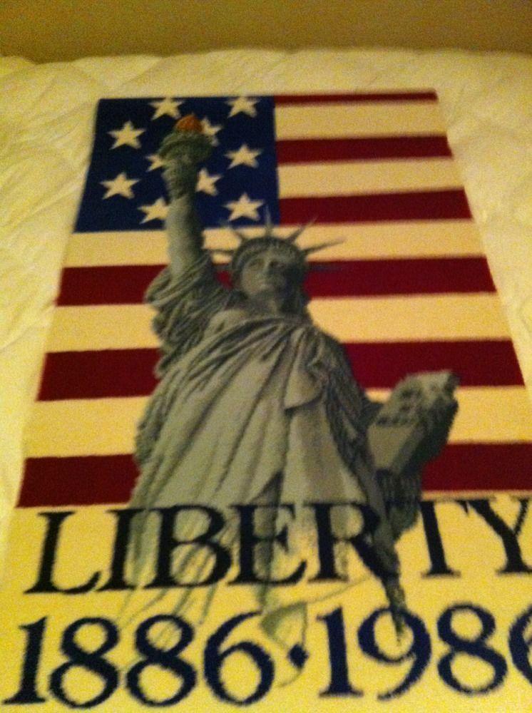Vintage Quot Mohawk Carpet Liberty Rug American Flag Statue