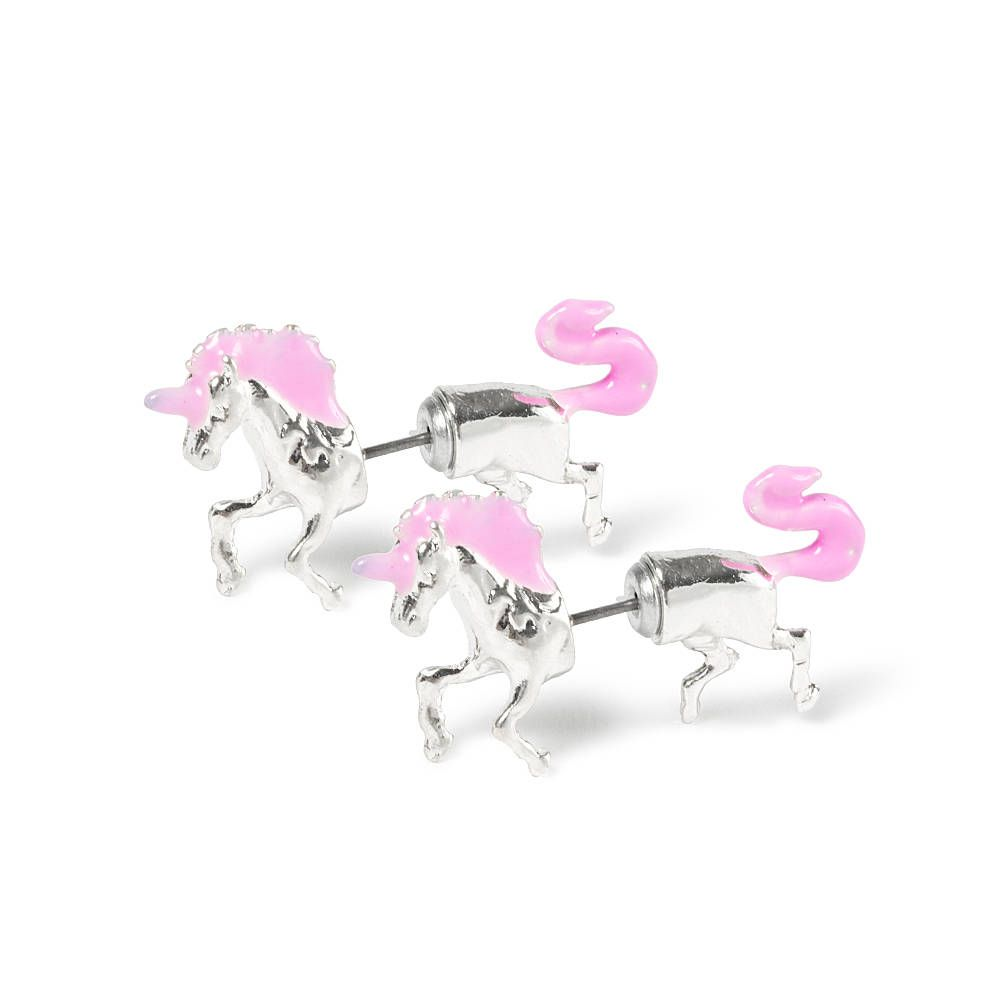 fc196079c Unicorn Front and Back Stud Earrings | Claire's | Animal Jewelry ...