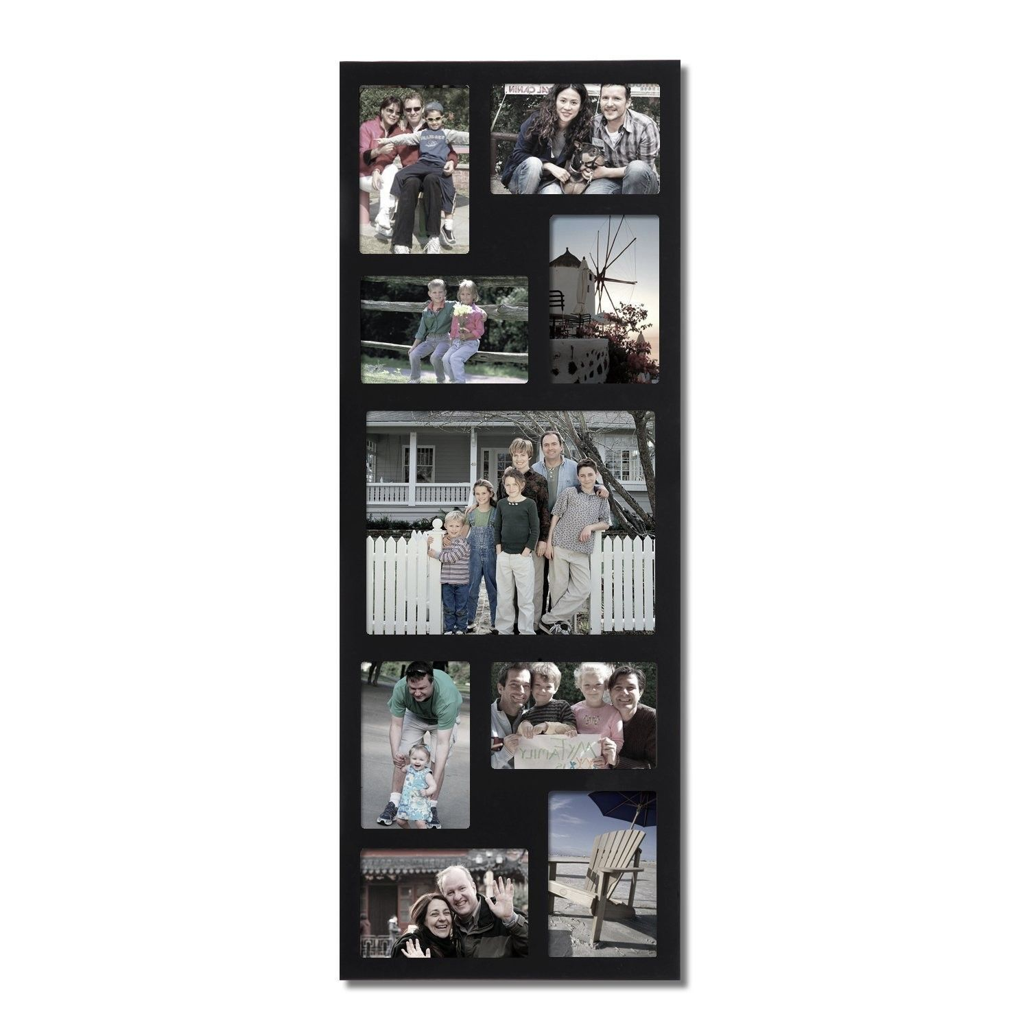9 Opening Wood Wall Hanging Picture Frame