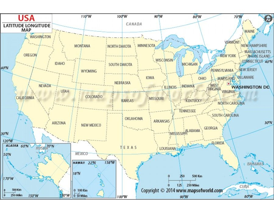 Us Map With Lat And Long US Map with Latitude and Longitude | Haritalar
