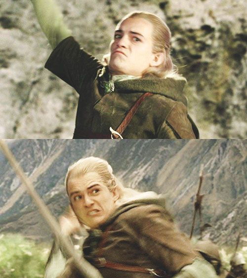 Legolas Weird Faces 4