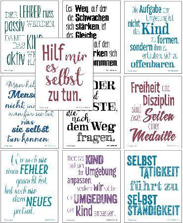 Montessori-Zitate, 10 Motivations-Poster