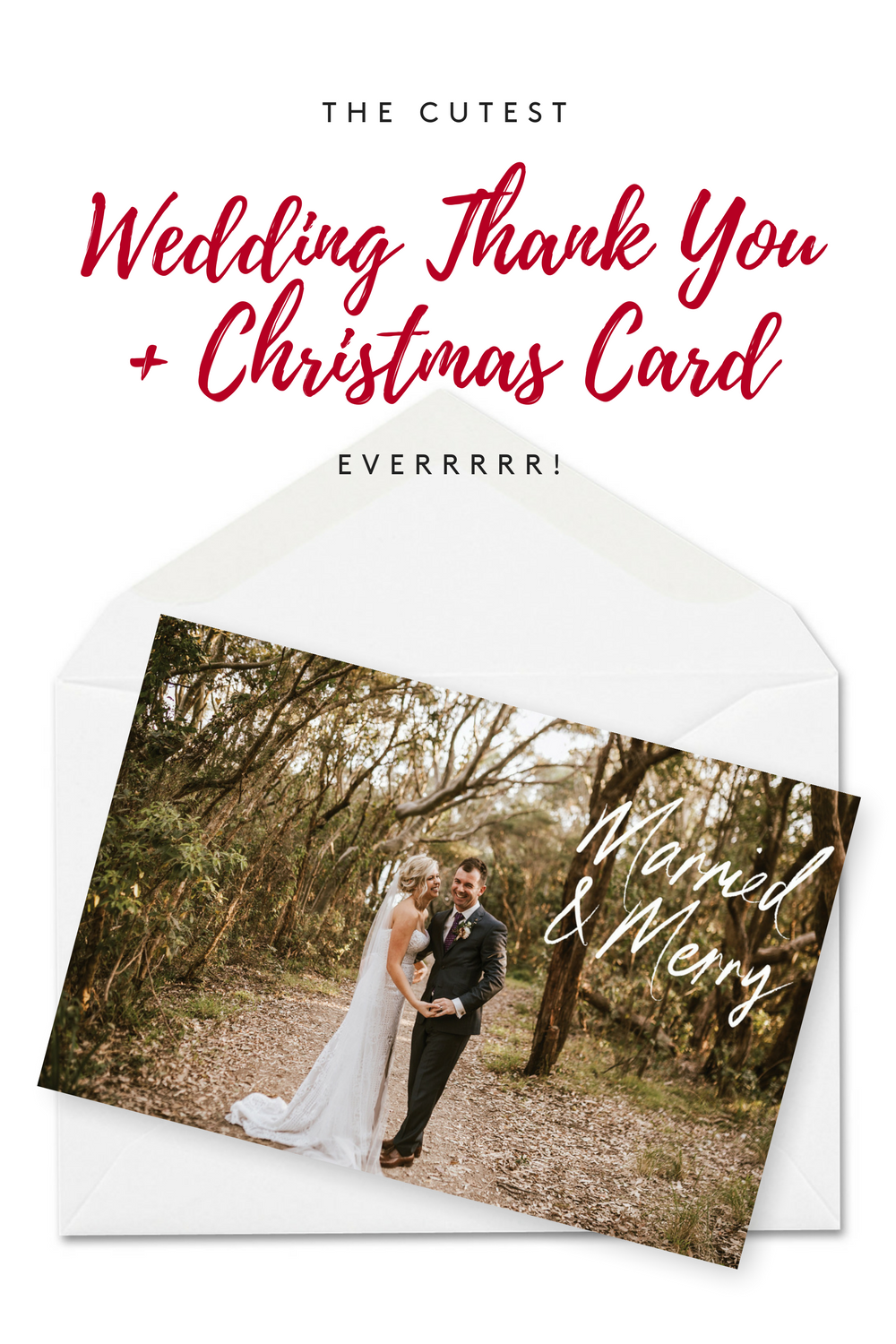Personalised Wedding Thank You Cards with Photos | Pinterest | Merry ...