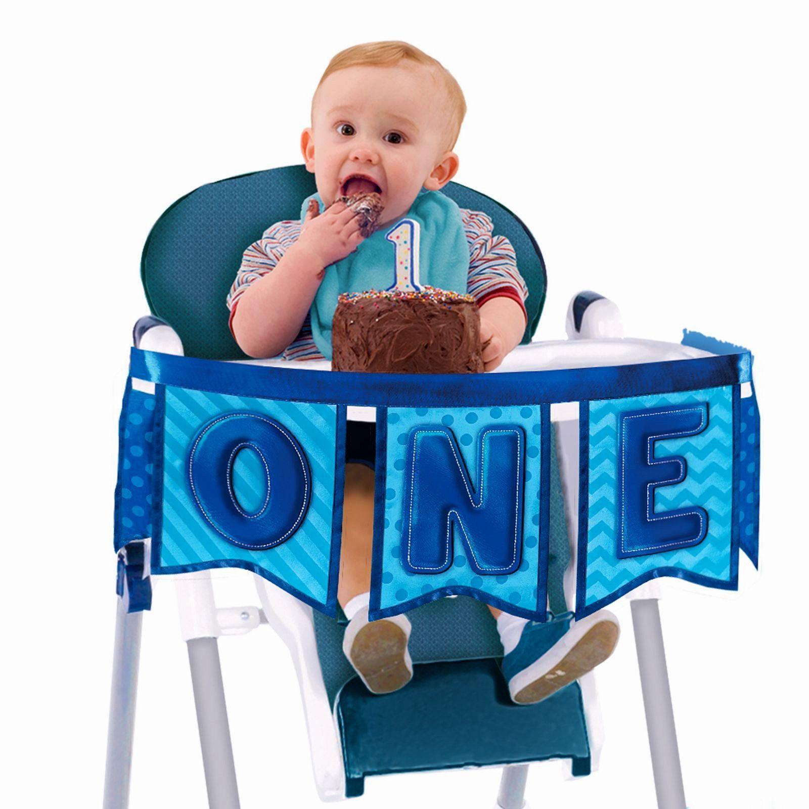 1st Birthday Boy High Chair Decorating Kit 1st Birthday Party Supplies 1st Boy Birthday High Chair Decorations