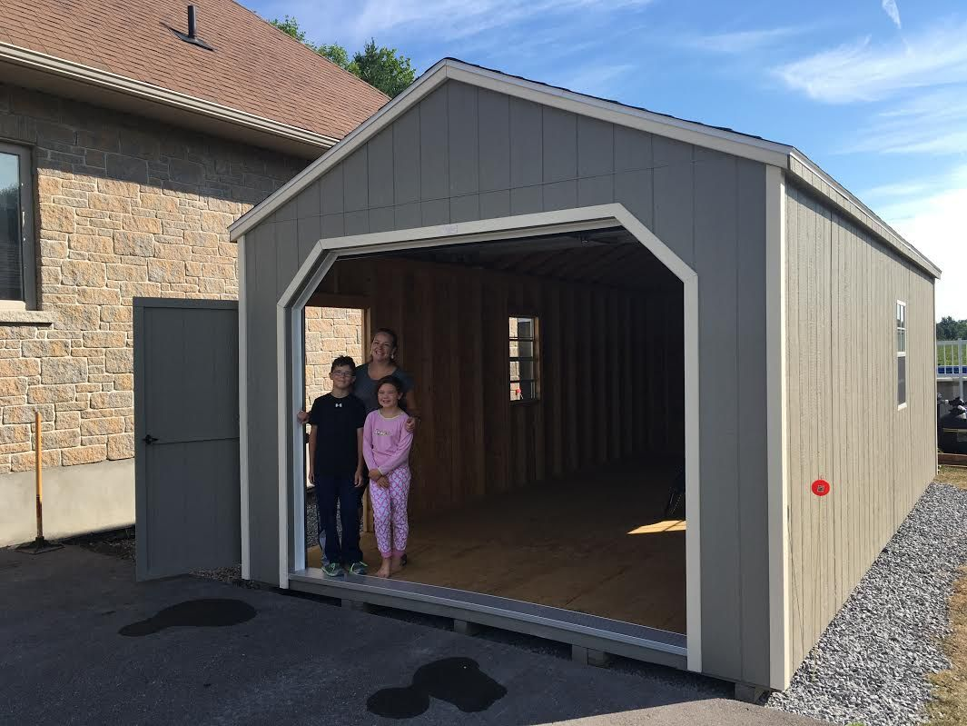 12 X 24 Portable Garage Shingled Roof Pt Flooring 16 On Center Construction Great Classic Car Storage Shed Plans Portable Garage Shed